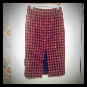 Vintage blu's skirt w/front slit